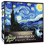 MaxRenard Puzzles for Adults 1000 Piece Starry Night Jigsaw Puzzle 1000 Van Gogh Puzzle Classic Oil Paintings Toy for Educational Gift Home Decor