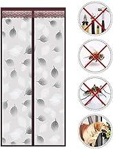Muggennet deur met magneten, zeer fijn weefsel, robuust, magnetisch, automatische magneetsluiting, voor terras 85x220cm(33...