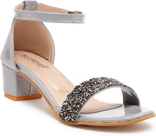 Butterflies Steps Latest Collection, Comfortable Heels Sandal for Women's & Girl's (Grey) (GHS-0056GY)