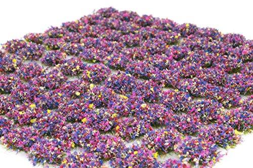 War World Scenics 4mm Blumen Selbstklebende Statische Grasbüschel x 100 - Modellbahn Modellbau Tabletop Gelände Diorama