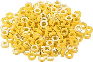uxcell 200pcs 7.4 x 13 x 5mm Ferrite Chokes Ring Iron Powder Toroid Cores Yellow White