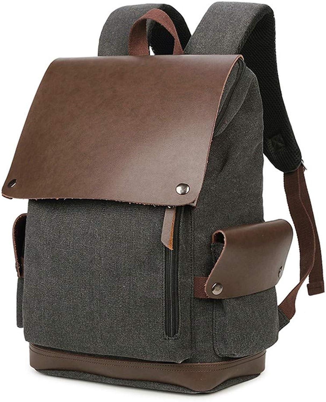 CEQT Laptop-Rucksack Mnner Vintage Durable Rucksack Groe Kapazitt Klassische Schultern Tasche Lssig Labtop Tasche Edle Business Rucksack Tasche