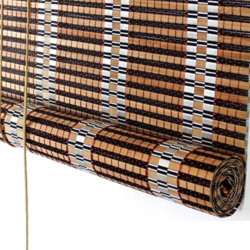 Estores Enrollables Persianas Enrollables de Sombra de Bambú para Interior Exterior, Persianas Enrollables de Madera con Accesorios, Entrada Gazebo de Jardín Ventana de Invernadero ( Size : 85×100cm )