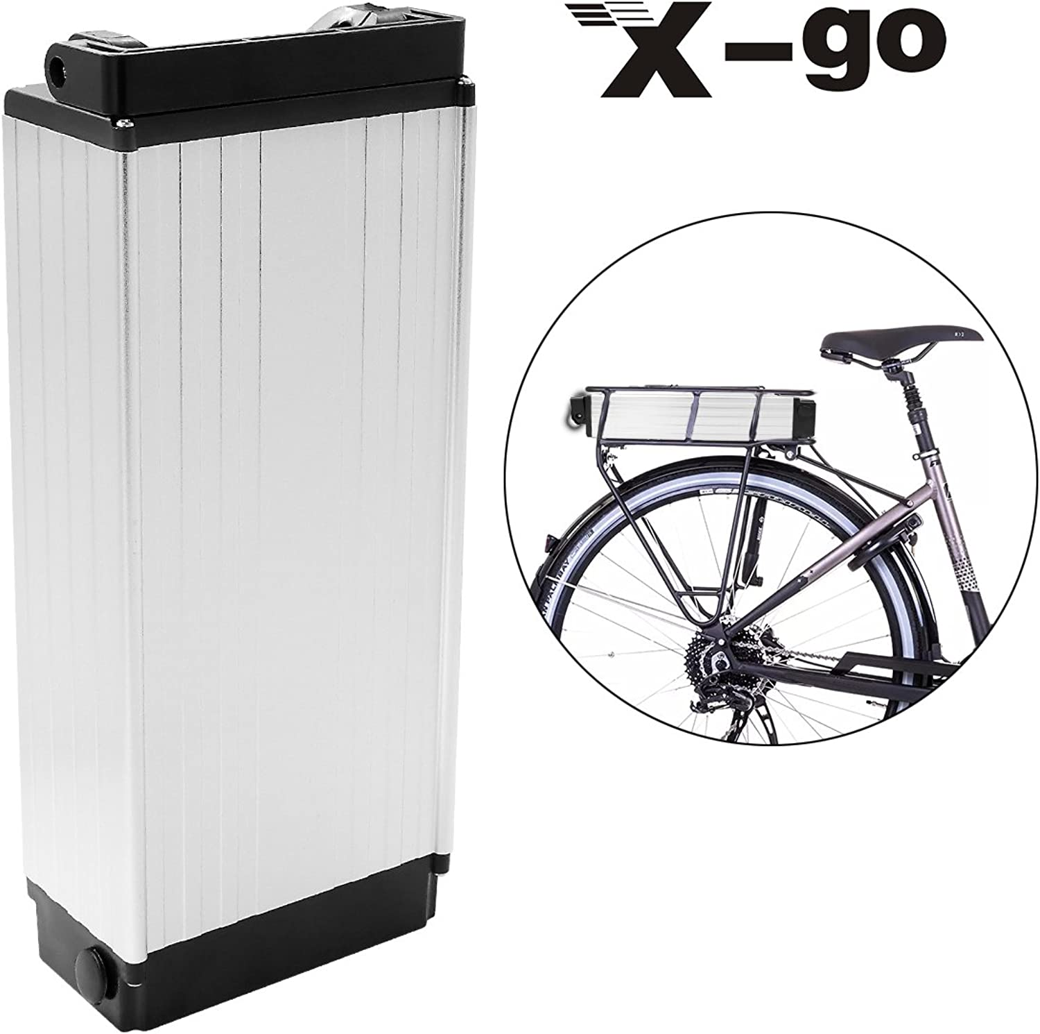 Xgo 48V 20Ah 1000W Cell Holder Back Carrier Liion Battery for EBike Electric Bicycle (No Lantern)