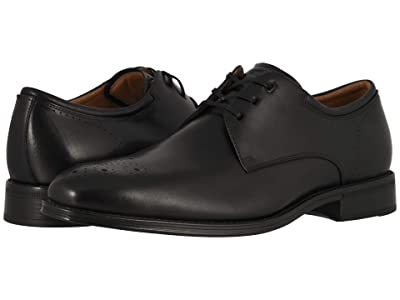Florsheim Amelio Perf Toe Oxford (Black Smooth) Men