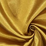 Fabulous Fabrics Satin gold, Uni, 148cm breit – Satin