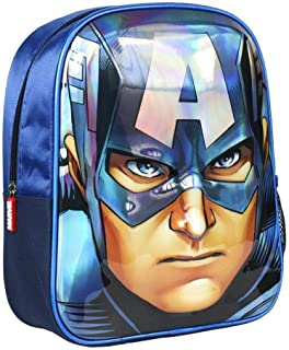 Mochila Infantil 3D Avengers Capitan America, Color Azul, 31 cm