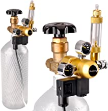Aquarium CO2 Regulator with Solenoid 110V-Mini Dual Gauge Display Bubble Counter,Check..