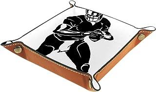 Vockgeng Joueur de Rugby Boîte de Rangement Panier Organisateur de Bureau Plateau décoratif approprié pour Bureau à Domici...