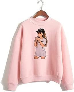 Ariana Sweatshirt Sweater for Women Girls Pink Cotton Long Sleeve Pullover Harajuku Tracksuits Fashion Merch B1