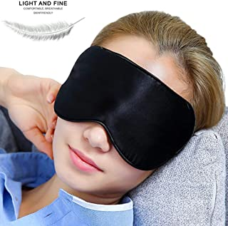 Uniside Eye Mask for Sleeping Comfortable and Super Soft Eye Mask with Adjustable Straps Works with Every Nap Position Ultimate Sleeping Aid Blindfold Blocks Light for Travel Shift Work Meditation