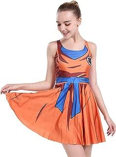 Women's Dragon Ball Cartoon Pleated Skirt Dress Costume