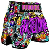 Buddha Fight Wear Pantalón Muay Thai Kick Boxing Buddha Retro Zippy