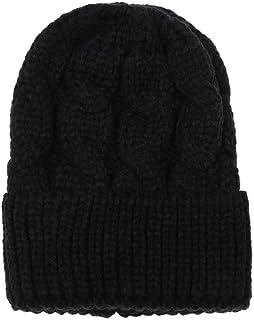 XILALU Fashion Women Ponytail Beanie Hat, Solid Crochet Keep Warm Winter Wool Knitted Horsetail Cap Hat
