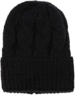 XILALU Fashion Women Ponytail Beanie Hat, Solid Crochet Keep Warm Winter Wool Knitted Horsetail Cap Hat