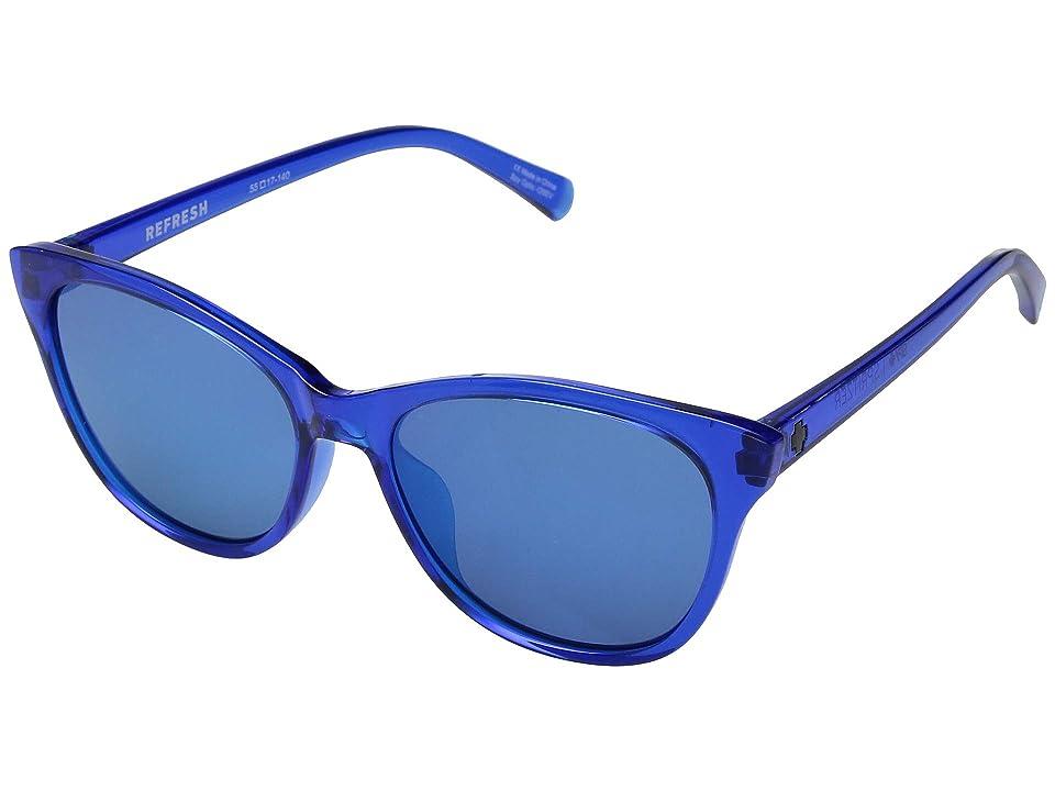 Spy Optic Spritzer (Sapphire/Gray/Dark Blue Mirror) Sport Sunglasses