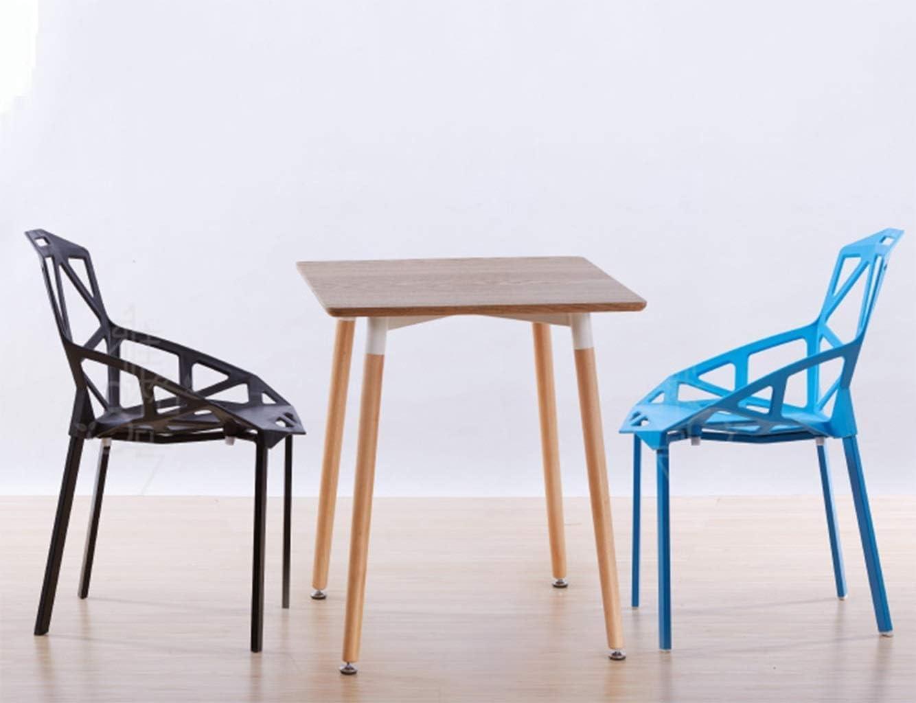 QYHCP Chaise en Plastique, Chaise Creuse Géométrique Simple, Dossier, Chaise De Thé en Plein Air, Table De Salle À Manger en Plein Air (Color : Blue) Black