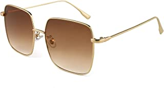 Oversized Square Sunglasses for Women and Men, Classic...