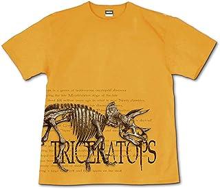 [GENJU] Tシャツ 恐竜 恐竜博 トリケラトプス スカル アメカジ 骨 裏もデザインあり メンズ キッズ