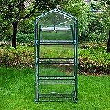 WMQ Mini Invernadero para Interiores al Aire Libre, invernaderos de Plantas pequeñas, Soportes de Rack de 3 a 4 Niveles, Invernadero de jardín portátil Resistente con Cubierta de PE Duradera