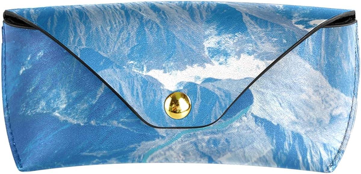 Multiuse PU Leather Sunglasses Case Eyeglasses Pouch Goggles Bag Winter Snow Mountain Portable Storage