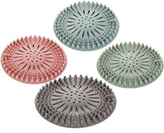 4 pièces de filtre à cheveux en silicone, dispositif de protection de drainage universel, peuvent être utilisées dans la s...