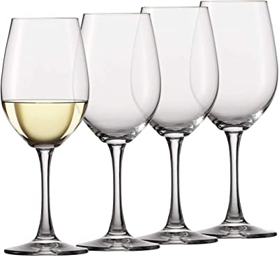 Circleware 44317 Rimini Red White Wine Drinking Glasses, Set of 4, 15.75 Ounce, Clear