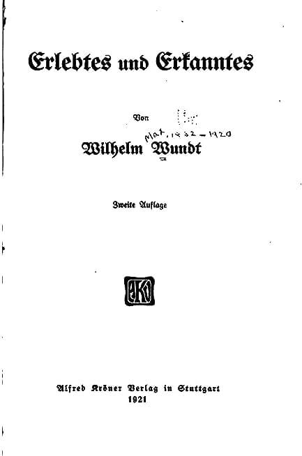 Erlebtes und Erkanntes (German Edition)