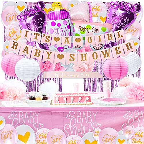 Pink Baby Shower Decorations for Girl - Baby Girl Baby Shower Decorations, Baby Girl Shower Decoration, Baby Shower Girl Decorations, It`s a Girl Decorations for Baby Shower Girl Baby Shower Decor Kit