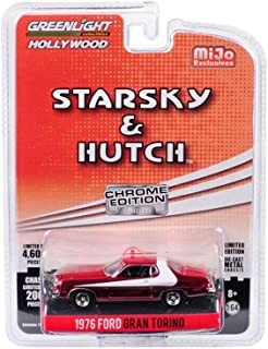 1976 Ford Gran Torino (Chrome Edition), Starsky and Hutch - Greenlight 51224 - 1/64 Scale Diecast Model Toy Car