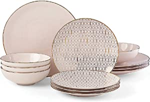 Lenox Trianna Blush 12-piece Dinnerware Set, 16.2 LB, Pink