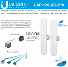 LiteAP AC LAP-120-US 2x2 MIMO airMAX ac Sector Access Point - Formerly LBE-5AC-16-120 - (2-Pack)