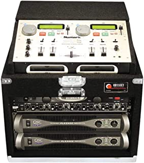 Odyssey CNMCM106 Carpeted Case For A Numark Cd Mix 1, 2, Or 3 With 6 Vertical Rack Spaces