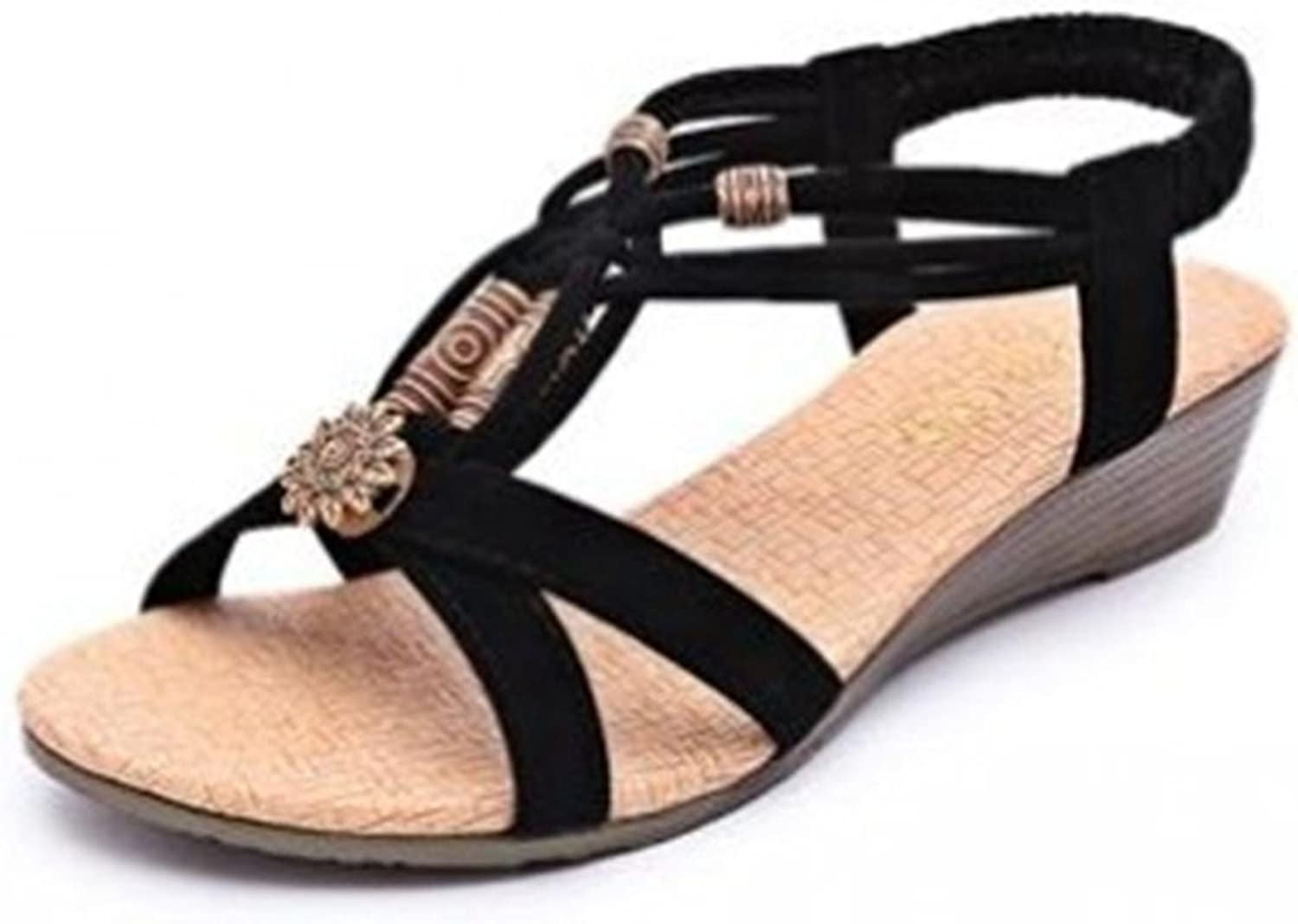 Lh yu Women Sandals Women Summer Platform Wedge Sandals Flat shoes with Ankle Strap