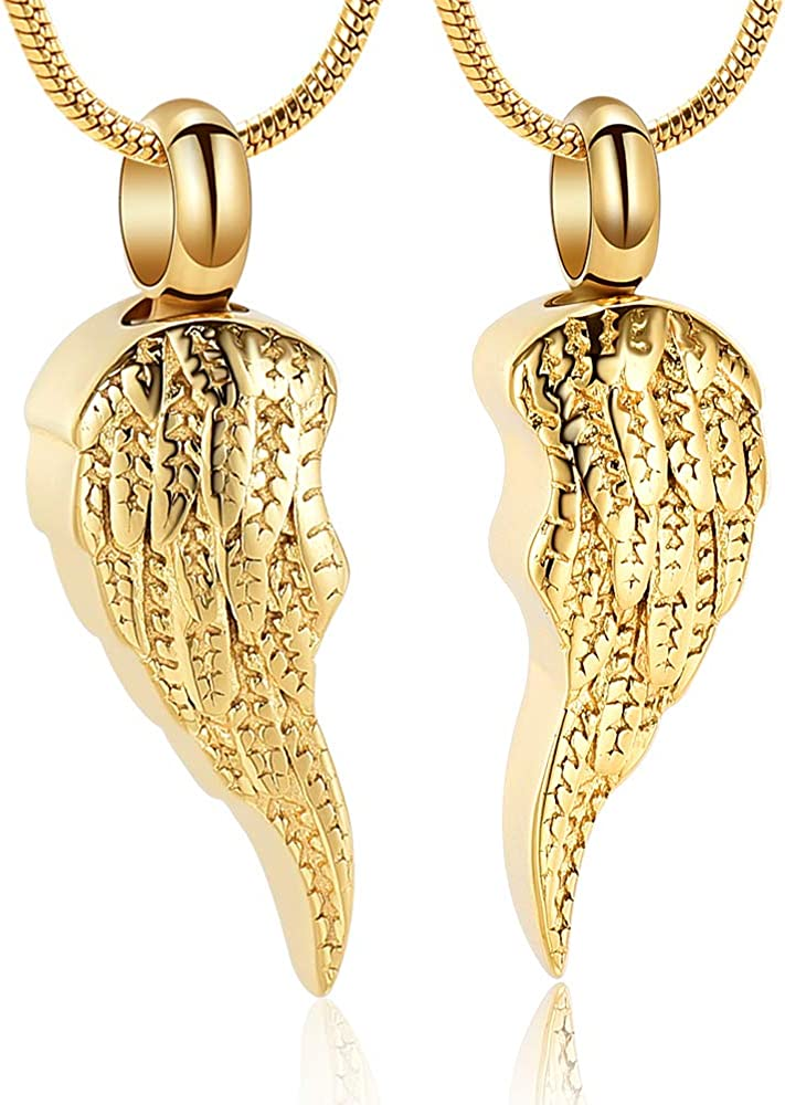 Angel Wing Ashes Pendant Cremation Jewelry Urn Necklace Keepsakes Memorial Lockets for Ashes