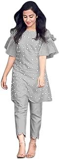 Daksh Enterprise Designer Full stitch PC Cotton Top With Bottom