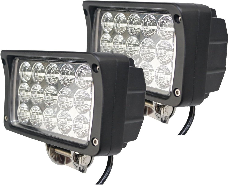 BRIGHTUM LED Arbeitsscheinwerfer weiß12V 24V Reflektor work light Scheinwerfer Arbeitslicht Offroad SUV UTV ATV Arbeitslampe - Traktor - Bagger (45W) B073W6DKRT | Exquisite Handwerkskunst