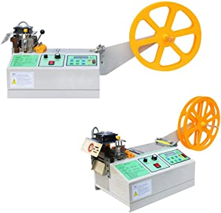 TECHTONGDA Automatic Digital Belt Cutting Machine Hot and Cold Cut Slitter Strap Strip Tape Webbing Leather Ribbons Textile 110V