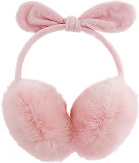 Sponsored Ad - Women Winter Earmuffs Girl Ski Adjustable Ear Covers for Kid Cute Bow Ear Warmer Outdoor Earmuff Fleece Lining