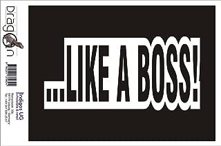INDIGOS UG Sticker/Bumper/Car/Vehicle/JDM/Die Cut/OEM - Like a boss! - 210x100mm Black