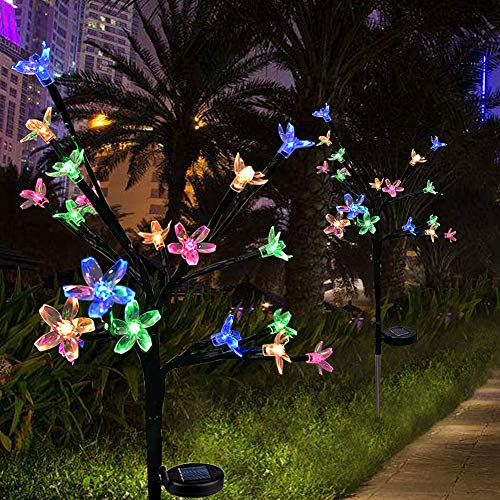 Anordsem Solar Light Outdoor, LED Garden Stake Lights with Auto...