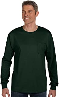 6.1 oz. Tagless ComfortSoft Long-Sleeve Pocket T-Shirt