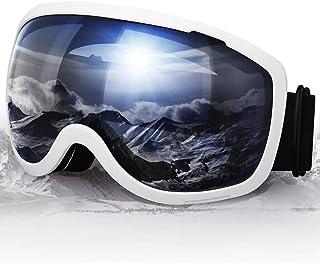 Elegear speglade skidglasögon utbytbara skidglasögon anti-dimma snowboard glasögon för män kvinnor