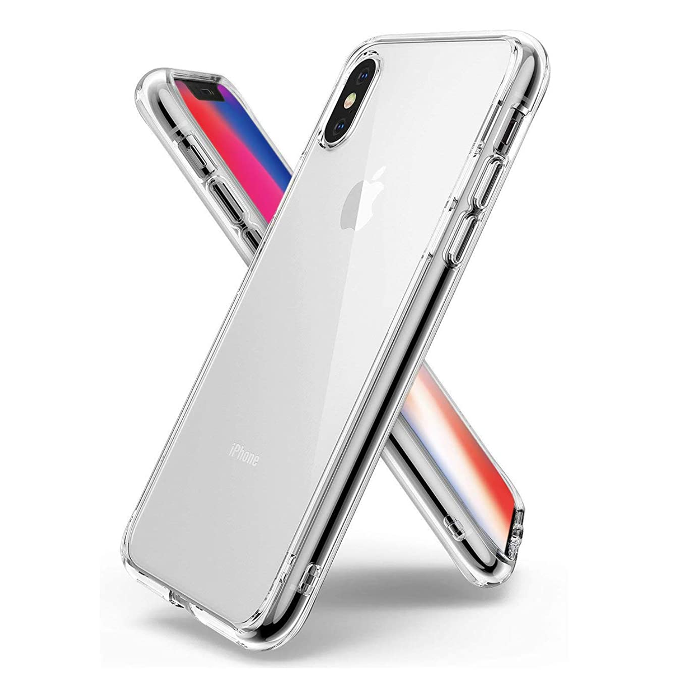 Alaxy Phone Case Compatible iPhone X Cases, Crystal Clear Soft TPU Skin Ultra-Thin [Slim Fit] Transparent Flexible Premium Cover [Wireless Charger Compatible] 8312