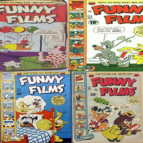 Funny Films. Issues 7, 8, 9 and 10. Plus Boots Blunderbunny. Digital Sky Comic Compilations Comdey and Humour. (English Edition)