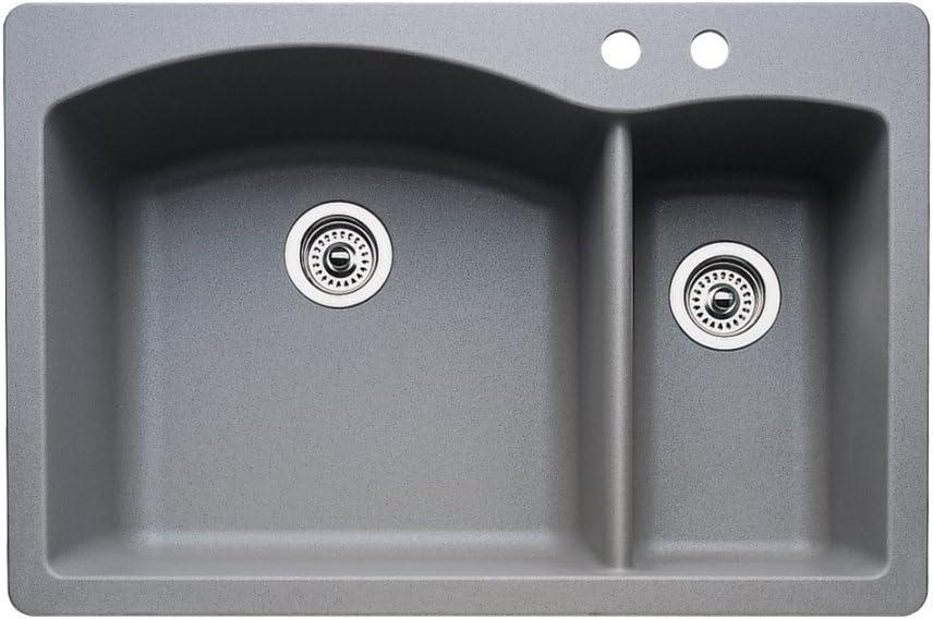 Blanco 440198-2 Diamond Japan's largest assortment Bargain sale 2-Hole or Undermoun Drop-In Double-Basin