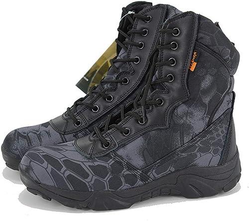 AHELMET Homme Bottes de Camouflage Bottes de Combat Montantes Montantes Montantes Chaussures Oxford Chaussures de randonnée Vélo, Course à Pied Randonnée Travail Anti-Slip 9a2