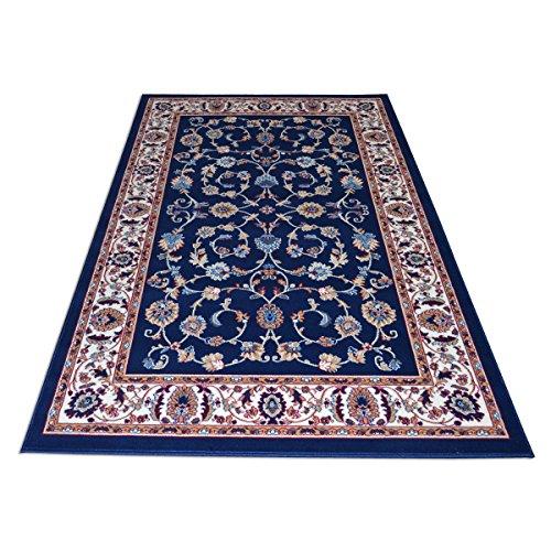 Royal Shiraz 2079 Teppich mit klassisch orientalischem Motiv–Teppich im Persischen Stil, blau Cm. 200x300 blau