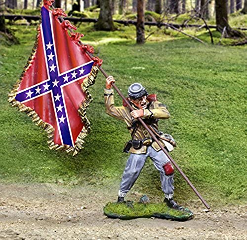 Civil War Toy Soldiers Rebel Standard Bearer Butternut Figure Collectors Showcase Toy Soldiers Painted Metal Figure Gettysburg 1 32 Britains Type by Collectors Showcase