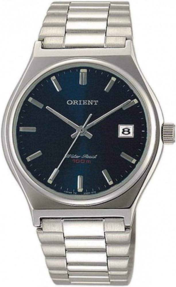Orient Reloj Analógico para Mujer de Cuarzo con Correa en Acero Inoxidable FUN3T003D0